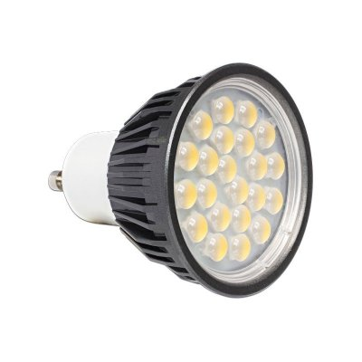 Delock Lighting GU10 LED Leuchtmittel 5,0 W warmweiß 22 x SMD Epistar 60°