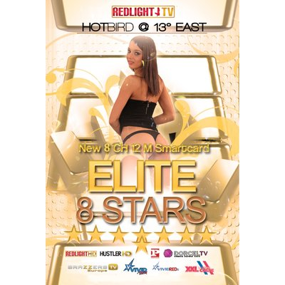 Redlight Elite 8 Stars Viaccess Smartkarte 12 Monate