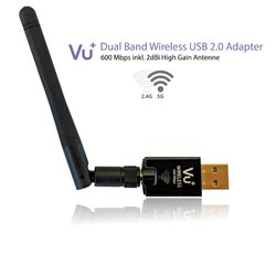 VU+ Dual Band Wireless USB 2.0 Adapter 600 Mbps inkl....
