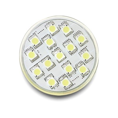 Delock Lighting GU10 LED Leuchtmittel 3,5 W kaltweiß 15 x SMD