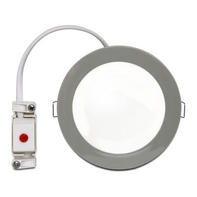 LED ceiling lamp chrome warm white Ø 9cm
