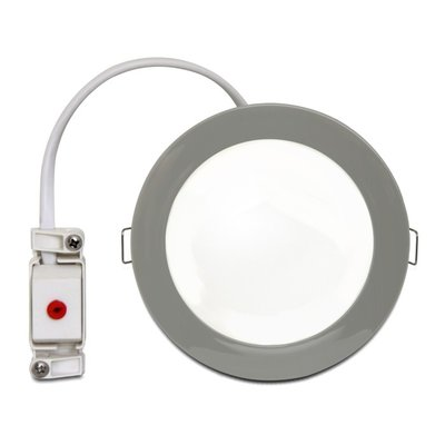 LED ceiling lamp chrome white Ø 12cm