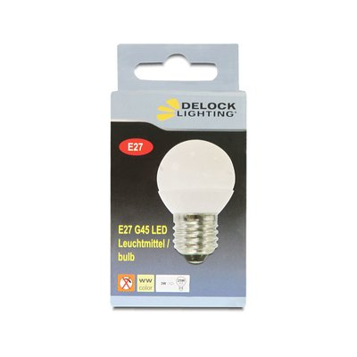 Delock Lighting E27 LED illuminant 3.0 W G45 warm white ceramic