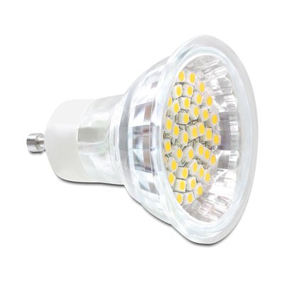 Delock Lighting GU10 LED illuminant 3.0 W warm white 48 x SMD glass cover