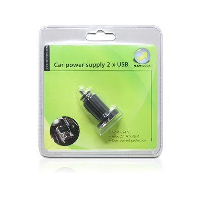 Navilock Power supply DC > 2 x USB A