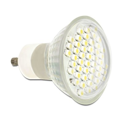 Delock Lighting GU10 LED illuminant 2.5 W warm white 48 x SMD glass cover