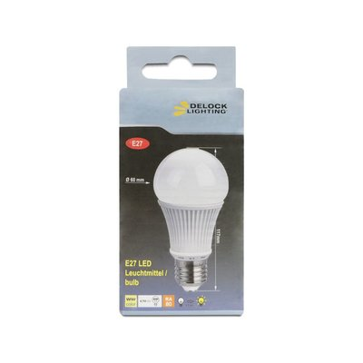 Delock Lighting E27 LED Leuchtmittel 6,7 W A60 warmweiß