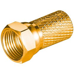 F-Plug 7mm gold-plated